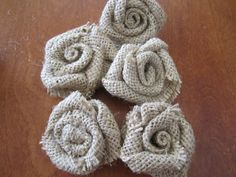 No sew burlap roses (best tutorial I've found so far! Mine came out prettier then the picture!)