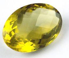 1 Pcs Natural Lemon Quartz Oval 34X24mm 73Cts Normal Cut Handmade Loose Gemstone #Raagarw