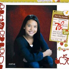GREAT TIP!!  ~~  Scrapbook School Portraits and Keepsakes in an Expandable Folder that you can also store extra pictures, papers, and other memorabilia inside.