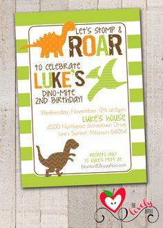 Dinosaur Birthday Invitation DIY Printable by thelovelyapple