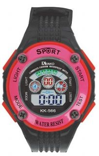 LED Digital Watch with Calendar, 30m Water Resistance Pink Women  Item No. : 55553  Price : $4.99  Category : Sport Watches