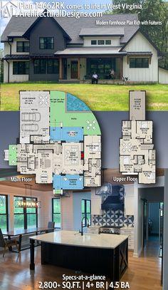 Sims Building, Building Plans, Building A House, Dream House Plans, House Floor Plans, My Dream Home, Modern Farmhouse Plans, House Blueprints, Sims House