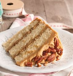 Buttered Pecan Caramel Cake - Taste of the South Magazine
