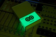 Glow-in-the-dark tape label by Alphabetical for independent production company Giant Owl