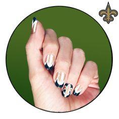new orleans nails | NFL Fanicure - New Orleans Saints