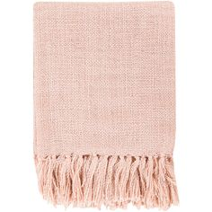 Surya Tilda Salmon Throw Blanket ($40) ❤ liked on Polyvore featuring home, bed & bath, bedding, blankets, fillers, scarves, accessories, surya, textured bedding and cotton blankets