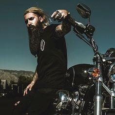 Trig Perez - beautiful full thick long beards mustache beard bearded man men mens' style fashion biker bikers motorcycle tattoos tattooed handsome #beardsforever