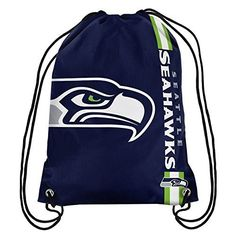 awesome NFL Seattle Seahawks 2015 Drawstring Backpack, Green