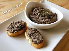 Paté de setas con almendras - http://www.monstruorecetas.es/2015/11/pate-setas-almendras.html
