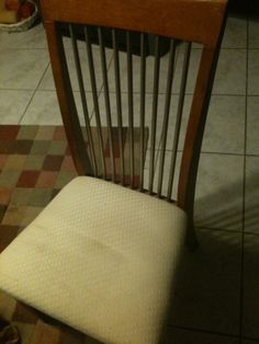 Recovering Chairs With New Foam And Fabric Room KitchenMonkeyUpholstery CurtainsDiy IdeasMid CenturyDining