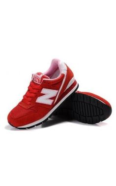 new balance 996 shoes-all red/white logo