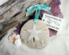 SAND DOLLAR Sand Ornament FAVORS, Beach Wedding, Destination Wedding, Seaside Christmas, Tropical, Coastal, Nautical, Luau, Beach Party on Etsy, $8.95