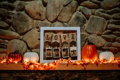 There are two fireplace mantels you can decorate at App clubhouse! | Smoky Mountain Wedding | National Park Wedding | Fall Wedding | Spence Cabin Ceremony | Appalachian Clubhouse Reception | Derek Halkett Photography | Absolute Wedding Perfection
