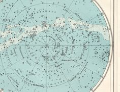 Vintage Astronomy star map Southern by VintageAndNostalgia on Etsy, $24.95