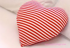 DIY Heart Pillow Tutorial from Sew Sweet Vintage