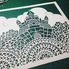 Finished my castle, I really love it #kellycutspaper #fairytalecastle #castle #paper #paperart #papercut #papercutart #papercutting #handcut #handmade #handdrawn #art #artist #artoninstagram #artist_community #artistscommunity