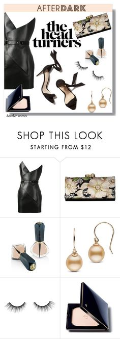 """""""After Dark: Party Outfits"""" by heather-reaves ❤ liked on Polyvore featuring Yves Saint Laurent, Ted Baker, Oribe, tarte, Clé de Peau Beauté and afterdark"""