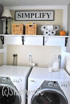 Nothing too fancy, just clean colors and beadboard to make this laundry room a pleasure to work in