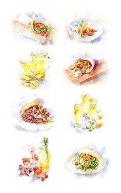 Food illustrations for Campus-cooking on Behance