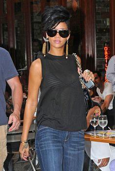 742c49f8b93a Rihanna Aviator Sunglasses