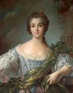 1748 Marie-Louise-Therese Victoire de France (Madame Victoire) after Jean Marc Nattier in pastel (Bonhams USA) | Grand Ladies | gogm