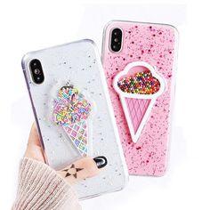 iPhone X Ice Cream Sprinkles Case
