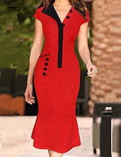 Elegant Dresses, Pretty Dresses, Beautiful Dresses, Office Dresses For Women, Clothes For Women, African Fashion Dresses, Fashion Outfits, Gown Pattern, Sammy Dress