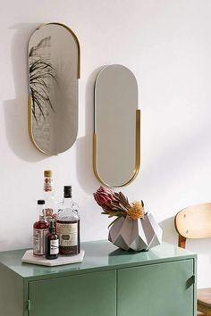 Urban Outfitters Pill Mirror Set | Scandinavian Design Interior Living |#scandinavian#interior