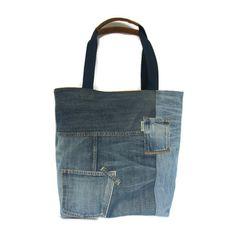 Shopper jeans Blue Jeans, Denim Jeans, Sustainable Fashion, Reusable Tote Bags, Totes, Jeans