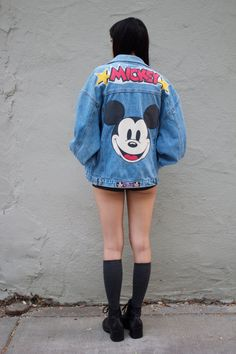 vtg 90s Mickey Mouse denim jacket by SLUTMART on Etsy