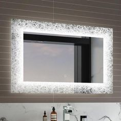 Brighten up your bathroom with a bathroom mirror with lights! Large or small, battery operated or Bluetooth, treat yourself to a new led mirror at a fab price. Light Up Bathroom Mirror, Mirrors That Light Up, Light Up Vanity, Rectangular Bathroom Mirror, Next Bathroom, Mirror With Lights, Bathroom Ideas, Bathroom Furniture, Glass
