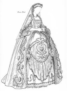 MILLENNIUM BRIDE  A young bride looks back through 1000 years of history in trying to decide what to wear for her wedding.[Rococco bride]