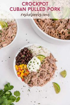 A citrus based marinade adds flavor and tenderness to crockpot Cuban pork. Change up your normal routine of pulled pork with this unique flavor combination. Marinated Pork, Grilled Pork, Mojo Pork, Cuban Pork, Cuban Dishes, Pulled Pork Sliders, Boneless Pork Shoulder, Shredded Pork, Pulled Pork Recipes