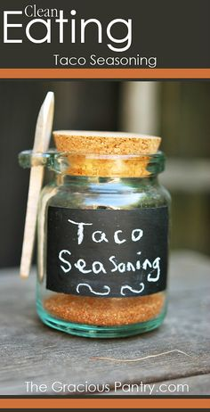 Homemade Taco Seasoning. #CleanEating  I could take this base and tweak it to my own recipe, then store it away :)
