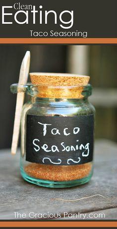 Homemade Taco Seasoning. #CleanEating