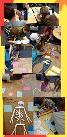 The Body research and putting thinking into art! So fun!