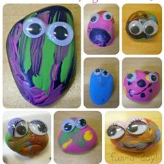 Pet Rock DIY  Fun Camping craft for the kids. they will love collecting their new pets and decorating.
