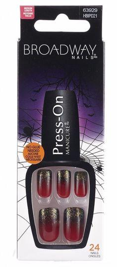 broadway nails press on manicure 63929 rip halloween nails broadwaynails