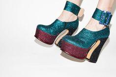 self service magazine disco heels