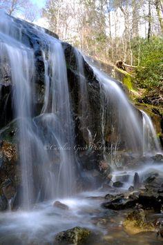 """Cascades"" Blowing Rock, NC by Caroline Green"