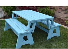 Ah! E se falando em madeira...: Mesa convertida em banco