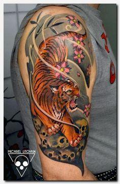 211cbab37 #tigertattoo #tattoo music themed tattoo sleeves, wings back tattoo, tribal  aztec tattoos