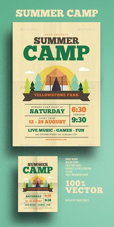 photoshop children summer flyer camp text psd Summer Camp Flyer Photoshop PSDYou can find Flyer design and more on our website Graphic Design Flyer, Event Poster Design, Design Brochure, Event Posters, Identity Design, Poster Cars, Poster Sport, Poster Retro, Leaflet Layout