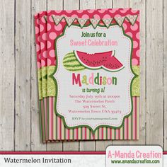 Watermelon Party Printable Party Inviation