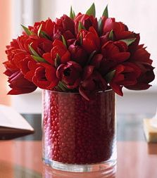 red hots in the vase ...