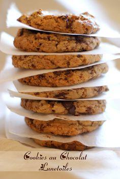 Cookies au chocolat moelleux et parfaits - Appetizer Recipes Cookie Desserts, Easy Desserts, Cookie Recipes, Delicious Desserts, Dessert Recipes, Yummy Food, Galletas Cookies, Cupcake Cookies, Nutella