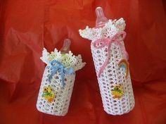Beautiful Baby Bottle Covers Crochet  Choose any of by TheLooks, $6.00