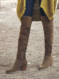 Brown suede over-the-knee boots | Sole Society Melbourne
