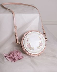 Cherry Bomb -Camille and Claude- Embroidery Lolita Handbag Cross Body Bag – purses and handbags diy Diy Leather Tote, Bag Pins, Diy Handbag, Art Bag, Cute Backpacks, Girls Bags, Cute Bags, Luxury Bags, Beautiful Bags