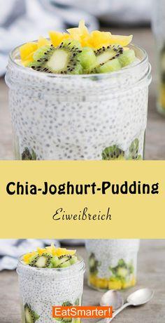 juicing recipes for health Chia-Joghurt-Pudding Coconut Chia Seed Pudding, Banana Chia Pudding, Chocolate Chia Seed Pudding, Healthy Juice Recipes, Healthy Juices, Healthy Dessert Recipes, Smoothie Recipes, Healthy Food, Oats Recipes